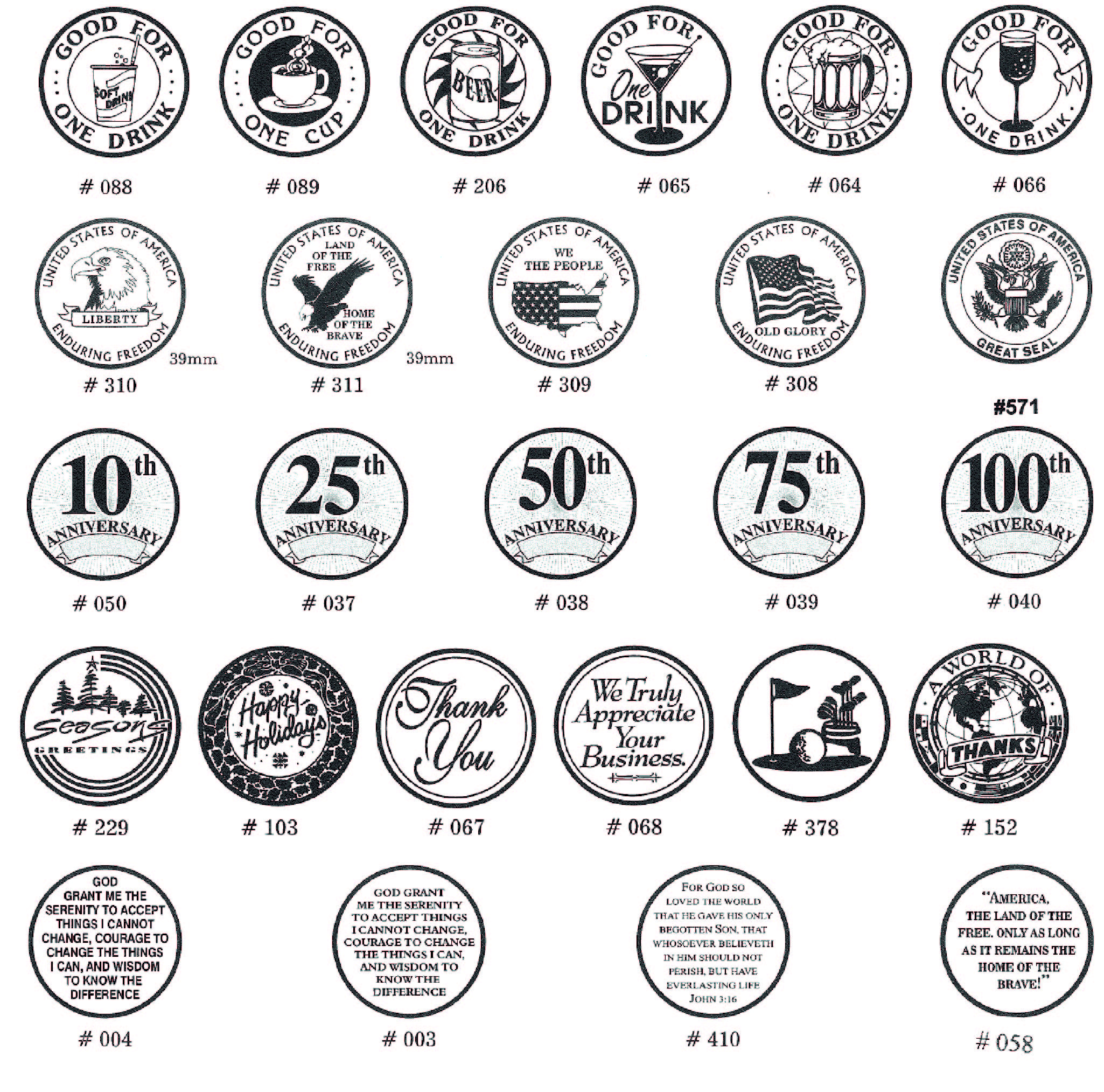 http://files.b-token.us/files/377/original/Aluminium tokens standard designs.jpg?1568269668